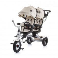 Chipolino Tricycle for twins Tandem beige