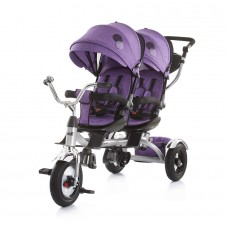 Chipolino Tricycle for twins Tandem purple