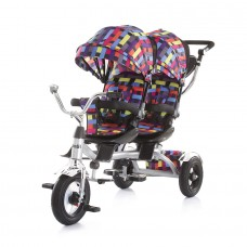 Chipolino Tricycle for twins Tandem multicolor