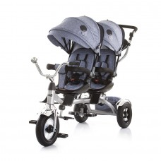 Chipolino Tricycle for twins Tandem grey