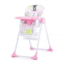 Chipolino Maxi Baby High Chair, peony pink