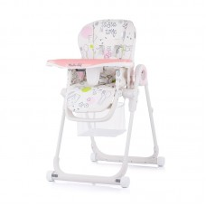 Chipolino High chair Master Chef, peony pink