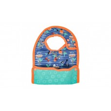 Close Parent Reversible Bib 6m+ Garden blue