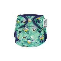 Close Parent Single Printed Reusable Popper Nappy +bamboo Garden