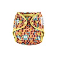 Close Parent Single Printed Reusable Popper Nappy +bamboo Monkey