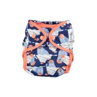 Close Parent Single Printed Reusable Popper Nappy +bamboo Walrus