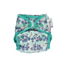 Close Parent Single Printed Reusable Popper Nappy +bamboo Snow leopard