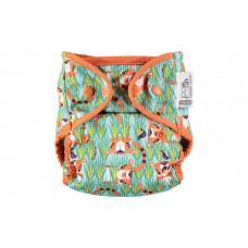Close Parent Single Printed Reusable Popper Nappy +bamboo Тiger