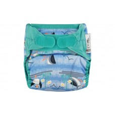 Close Parent Single Printed Nappy Puffin