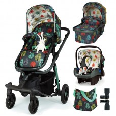 Cosatto Giggle Quad Baby stroller 3 in 1 Hare Wood