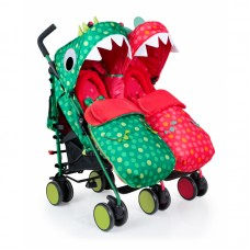 Cosatto Supa Dupa Dinomee and Mo Twin Stroller
