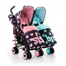 Cosatto Supa Dupa Sis and Bro Twin Stroller