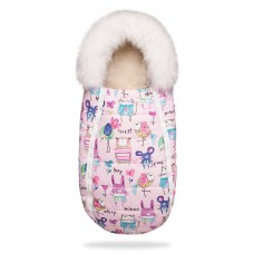 DoRechi Footmuuf Baby XS, pink with drawings