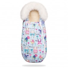 DoRechi Footmuuf Baby XS, blue with drawings