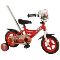 E&L Company Детски велосипед с помощни колела и родителски контрол Disney Cars, 10 инча