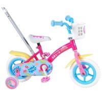 E&L Company Детски велосипед с помощни колела и родителски контрол Peppa Pig, 10 инча
