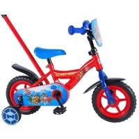 E&L Company Детски велосипед с помощни колела и родителски контрол Paw Patrol, 10 инча