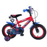 E&L Company Детски велосипед с помощни колела Spiderman, 12 инча