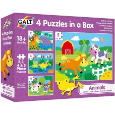 Galt 4 puzzles in a box, Animals