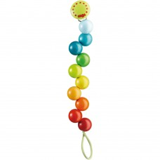 Haba Soother clip Rainbow Pearls