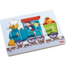 Haba Дървен пъзел Железопътен влак