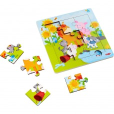 Haba Framed Wooden Puzzle Animal friends