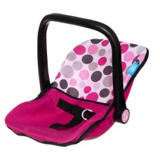 Hauck Doll Junior Carseat Pink Dot