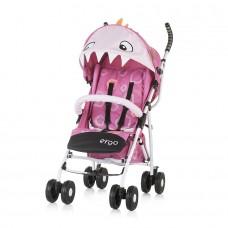 Chipolino Бебешка количка Ерго 6+, розово драконче