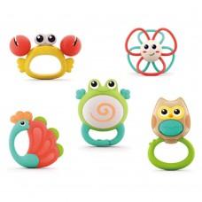 HOLA Комплект бебешки гризалки Оркестър от животни
