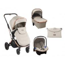 Kikka Boo Baby Stroller 3 in 1 Angele, Chrome Beige