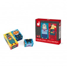 Janod Blocks set 2 in 1 Dogs and cats