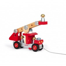 Janod Wooden Fire truck with tools