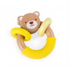 Janod Baby wooden rattle Bear