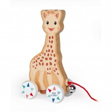 Janod Wooden toy pull along Sophie la Girafe