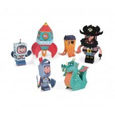 Janod Adventure paper toys charakcters