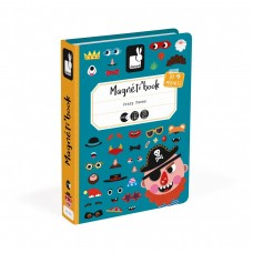 Janod Magnetic book Funny faces for a boy