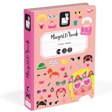 Janod Magnetic book Funny faces for girl