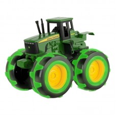 John Deere Тractor with big glowing tires