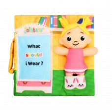 Jollybaby Educational soft book What to wear?