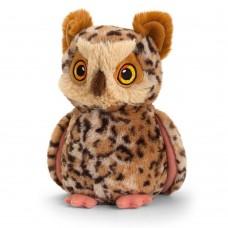 Keel Toys Екологична плюшена играчка Бухал 18 см