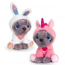 Keel Toys Плюшен Мопс с костюм 20 см