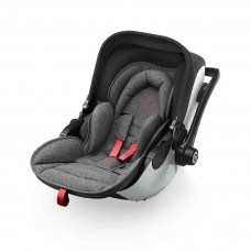 Kiddy Car seat Evoluna i-Size (0-13kg) with Isofixbase Grey Melange Hot Red
