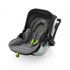 Kiddy Car seat Evoluna i-Size (0-13kg) with Isofixbase Grey Melange Super Green