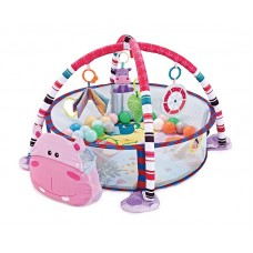 Kikka Boo Baby Mat and Activity Gym with 30 Balls, Hippo