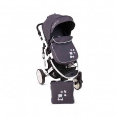 Kikka Boo Beloved  Baby Stroller, 2 in 1 Dark Grey