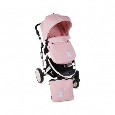 Kikka Boo Beloved  Baby Stroller, 2 in 1 Light Pink