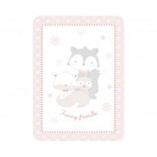 Kikka Boo Baby blanket Funny Friends 80/110, pink