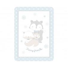 Kikka Boo Baby blanket Funny Friends 80/110, blue