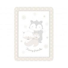 Kikka Boo Baby blanket Funny Friends 80/110, beige