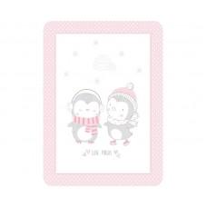 Kikka Boo Baby blanket Love Pingus 80/110, pink